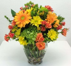 Yellow, Orange and Green Flower Arrangement